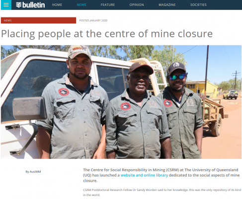 Placing people at the centre of mine closure